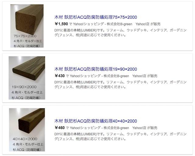 防腐防蟻処理された木材