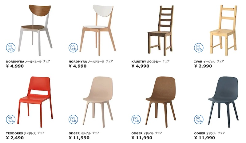 IKEAのオンラインショップより