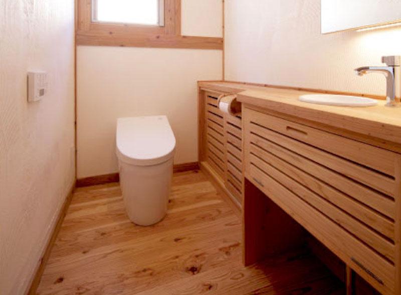 空気がうまい家のトイレ