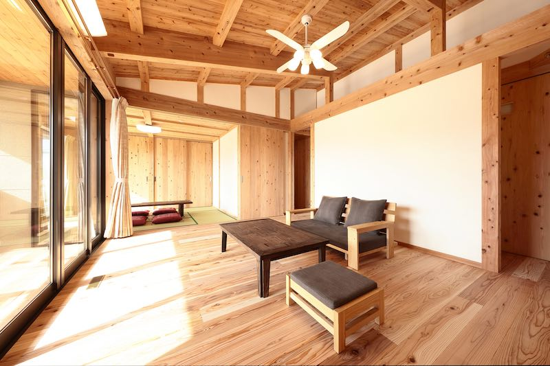 ビニルクロスなどの新建材を使用していない空気がうまい家®︎