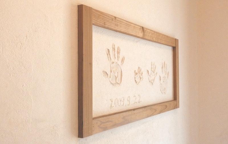 リノベーションの際につけた手形(空気がうまい家®︎仕様の家・京都府・宇治市)