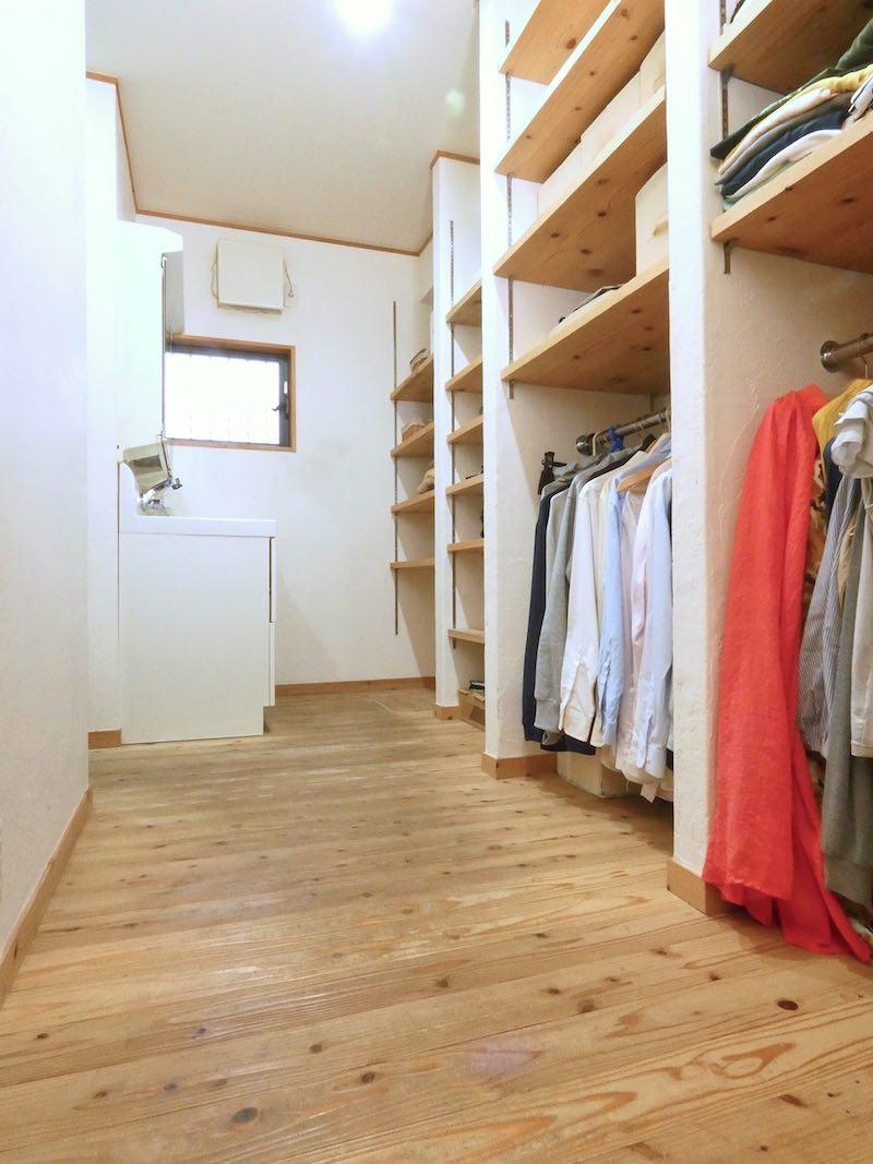 ご家族の衣類のほとんどがこの場所に集約されている(空気がうまい家®︎京都府宇治市)