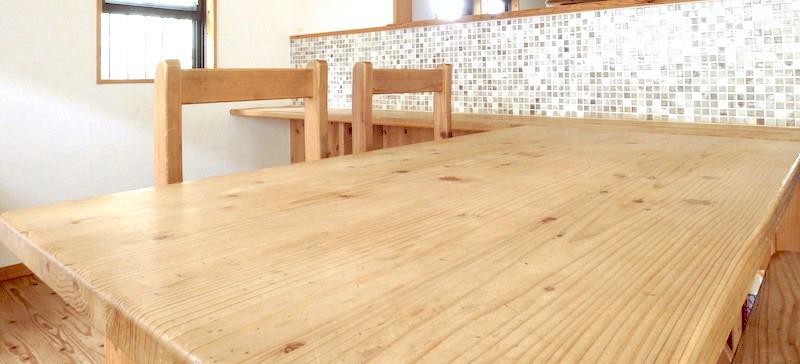 10年以上、水拭きしかしていないダイニングテーブル(リノベーション・京都府宇治市)