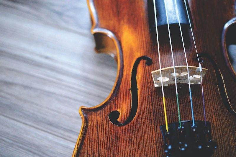 良いバイオリンは自然の温度で10年以上乾燥させた木でつくられる